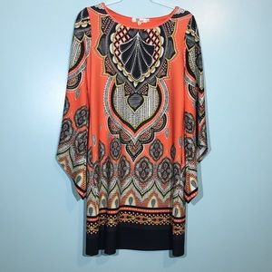 Aryeh Tunic Dress with 3/4 flared arms